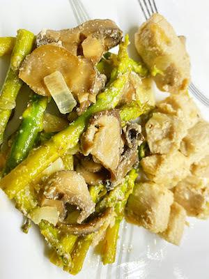 Buttery Asparagus & Mushrooms